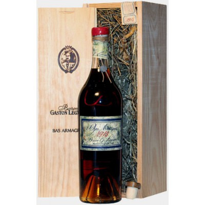 ����������� �������� �� �������� 1918 ���������� ���� Bas Armagnac 1918 Wooden box
