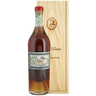 Французский арманьяк Ба Арманьяк 1986 Деревянный ящик Bas Armagnac 1986 Wooden box