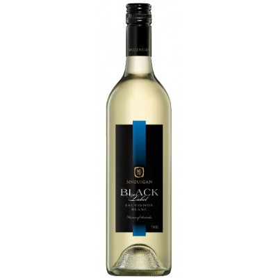 Австралийское белое полусухое вино Совиньон Блан Блэк Лейбл 2013 Sauvignon Blanc Black Label 2013