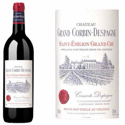 Французское красное сухое вино Шато Гран Корбин Деспань 2007 AOC Grand Cru Chateau Grand Corbin-Despagne 2007 АОС Гран Крю