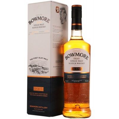 ����������� ������������� (single malt) ����� ������ ������ ���������� �������� Bowmore Legend Gift box