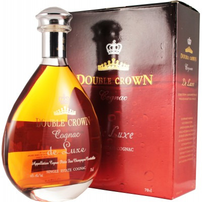 Французский коньяк Дабл Краун Де Люкс Декантер Double Crown de Luxe Decanter