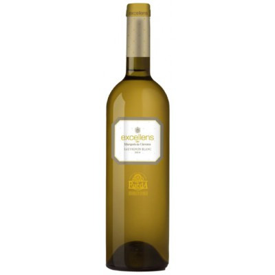 Испанское белое сухое вино Экселанс Совиньон Блан 2014 DO Excellens Sauvignon Blanc 2014 ДО