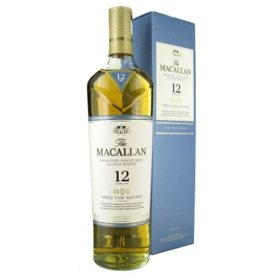 Шотландский односолодовый (single malt) Виски 12 лет Макаллан Трипл Каск Мейчурд 12 лет Подарочная упаковка Macallan Triple Cask Matured 12 Years