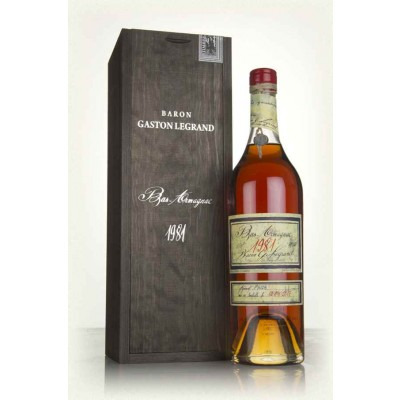 Французский арманьяк Ба Арманьяк 1981 Деревянный ящик Bas Armagnac 1981 Wooden box