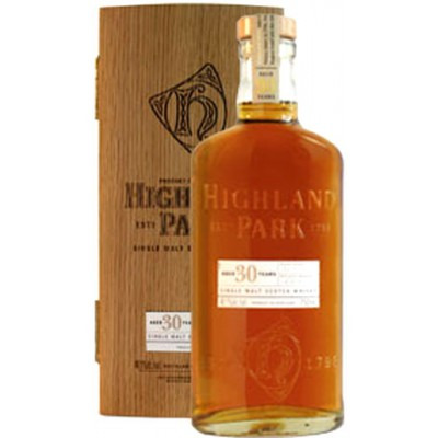 ����������� ������������� (single malt) ����� 30 ��� ������� ���� 30 ��� ���������� ���� Highland Park 30 years Wooden box
